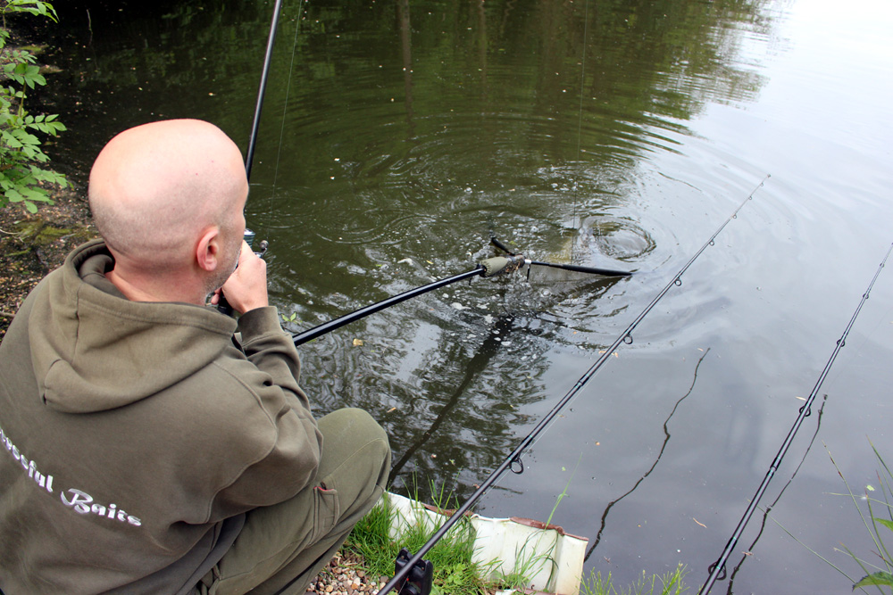 Fast geschaft ... Fisch im Netz :-)